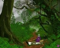 "painting of ""Man with Dinghy in Forest"""